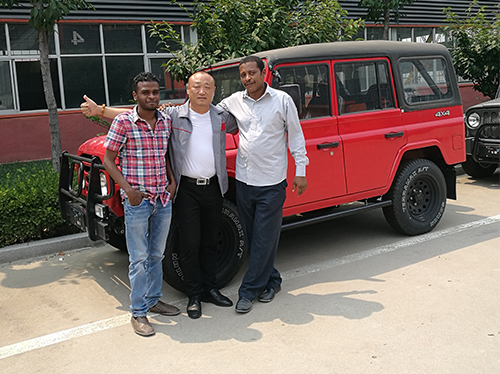 Customer visit off-road vehicle