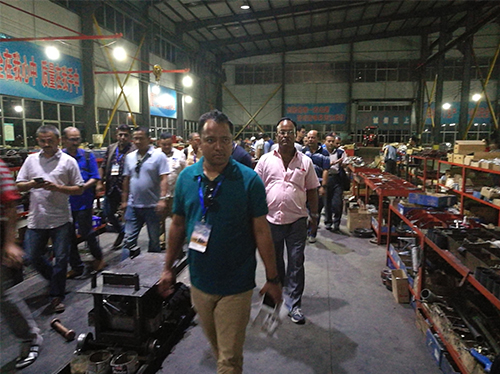 Distributors from different countries visit the customers